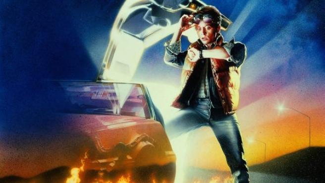 Cartel original de la película 'Regreso al futuro', con el actor Michael J. Fox.