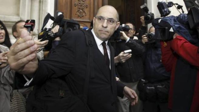 El magistrado Elpidio José Silva, a su llegada al Tribunal Superior de Justicia de Madrid.