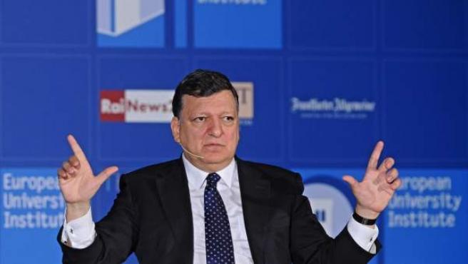 El presidente de la Comisión Europea, José Manuel Durao Barroso, durante un discurso en Florencia.