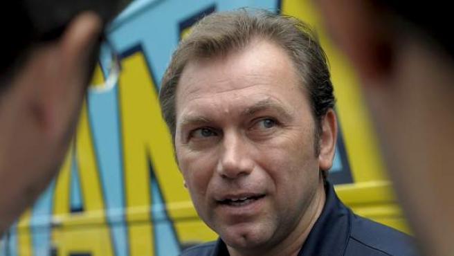 El exciclista y director deportivo belga Johan Bruyneel, en su época como director del Astaná.