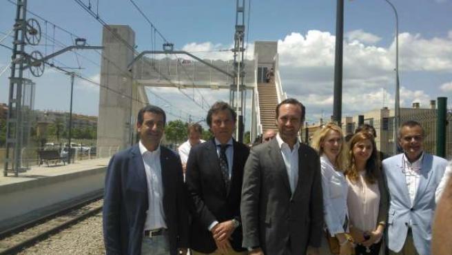 Company, Isern y Bauzá en la inauguración de la pasarela de Can Foradí