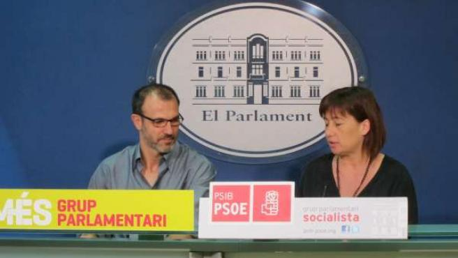 Biel Barceló y Francina Armengol