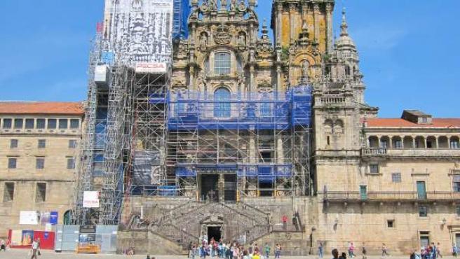 Obras en la Catedral de Santiago de Compostela