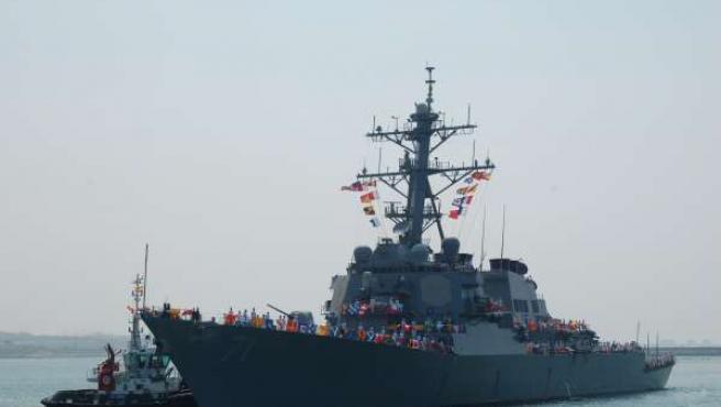 El 'USS Ross' a su llegada a la Base Naval de Rota