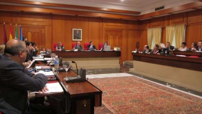 Celebración del Pleno del Ayuntamiento de Córdoba
