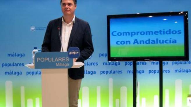 Carlos Rojas, portavoz del PP en el Parlamento de Andalucía, en Málaga