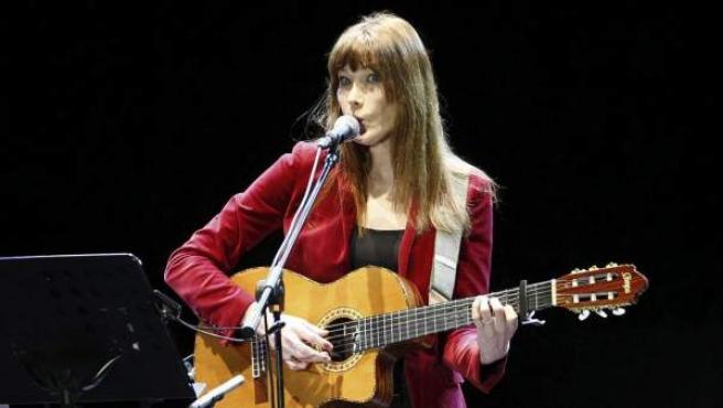 Imágen del último concierto de la gira de Carla Bruni en Barcelona.