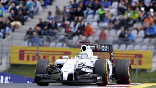 El piloto brasileño Felipe Massa, rodando con su Williams en el GP de Austria.