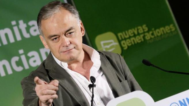 El vicesecretario general de Estudios y Programas del PP, Esteban González Pons, en un acto de Nuevas Generaciones.