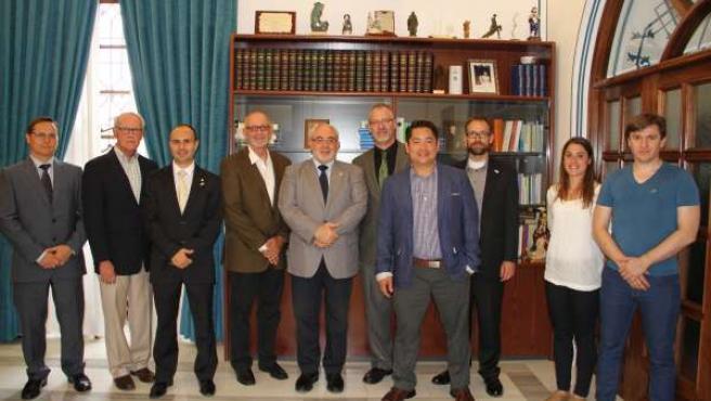 Imagen de la recepción a los miembros de la NSCA