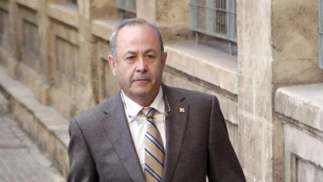 El juez del caso Palma Arena, José Castro, llega a los jugados de Palma.