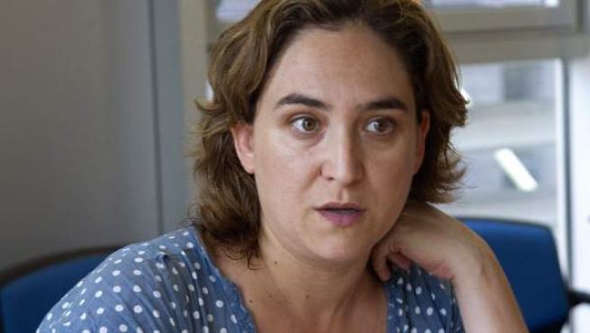 La activista Ada Colau, durante una entrevista.