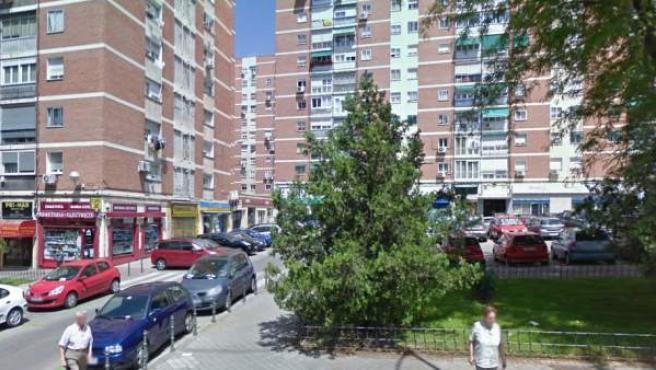 Calle Ginzo de Limia, 48 (Madrid), lugar donde se encuentra el local desalojado.