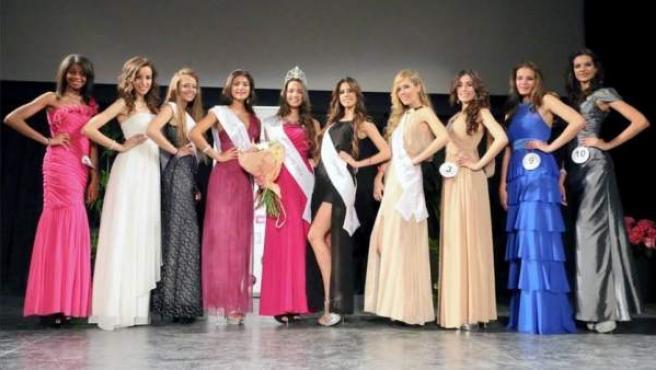 Una imagen de las participantes en el concurso Miss Teenager Universo 2014.
