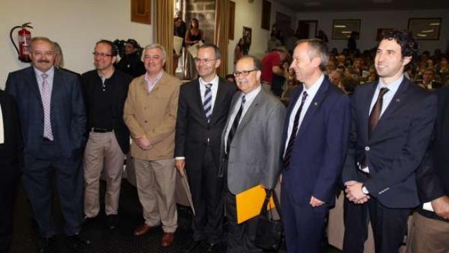 El conselleiro de Cultura en la entrega del Premio Trasalba