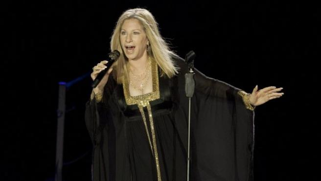 Barbra Streisand en un concierto en Tel Aviv en 2013.