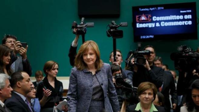 Imagen de archivo de la consejera delegada de General Motors Mary Barra.