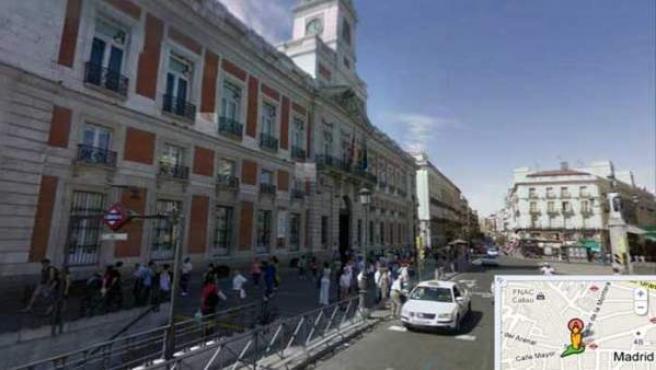 Google Street View en la Puerta del Sol de Madrid
