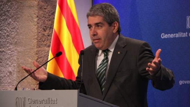 El consejero de Presidencia y portavoz del Govern, Francesc Homs, en la rueda de prensa posterior al Consell Executiu.
