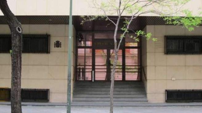 Fachada de la sede de la Audiencia Nacional.