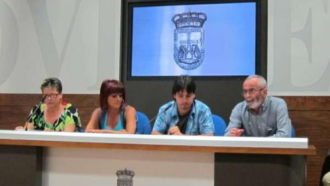 Julia Oliva, Belén González, Ignacio Fernández y Antonio González