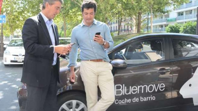 Servicio de alquiler de coches por horas de Bluemove.
