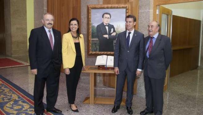Homenaje a Sempre en Galiza y Castelao en el Parlamento de Galicia