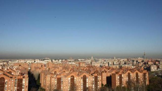 La 'boina' de contaminación sobre Madrid - ARCHIVO