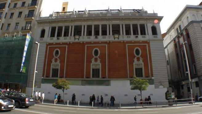 Edificio del Palacio de la Música, en la Gran Vía madrileña.