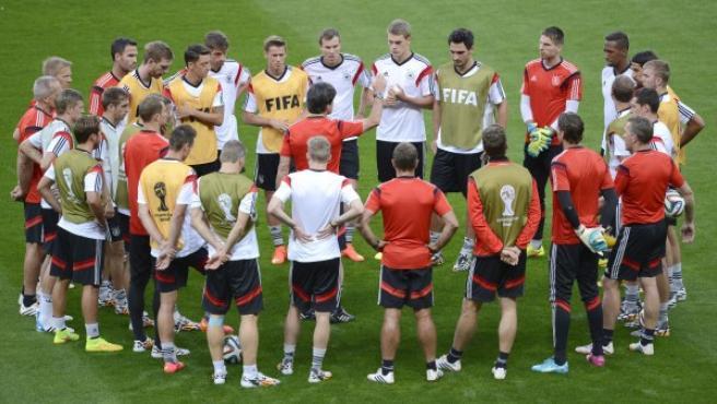 Alemania, en un entrenamiento.
