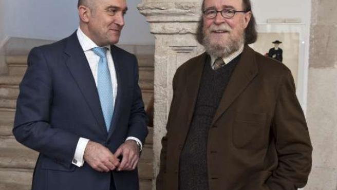 El presidente de la Diputación, Jesús Julio Carnero, junto a Joaquín Diaz