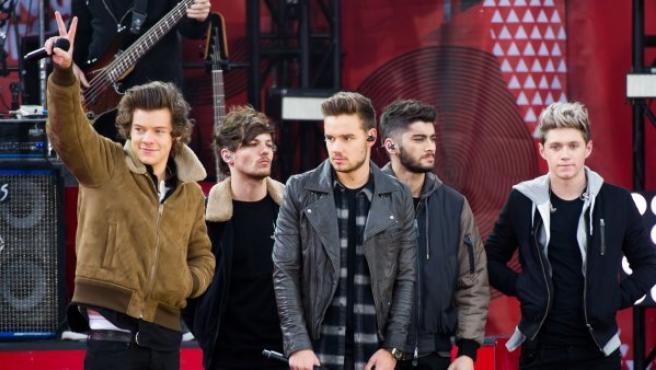 Harry Styles, Louis Tomlinson, Liam Payne, Zayn Malik y Niall Horan (de izquierda a derecha), miembros de One Direction, en Nueva York, en noviembre de 2013.
