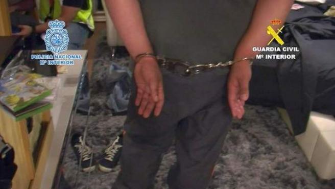 Imagen de archivo de los 32 detenidos en la operación Tarantela.