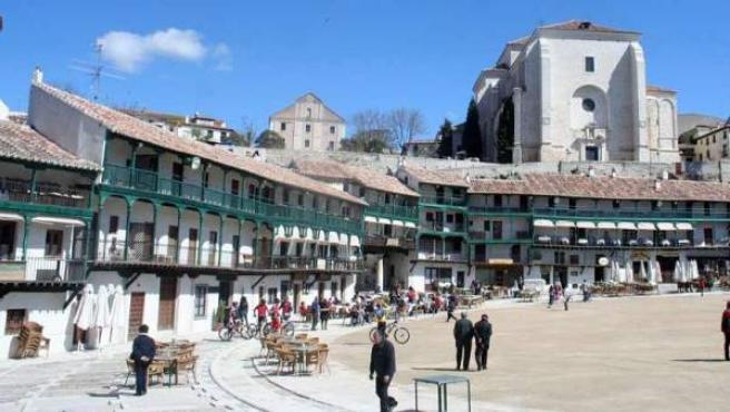 La Plaza Mayor de Chinchón es de origen medieval.