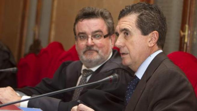 El expresidente del Gobierno balear y exministro, Jaume Matas, en un momento de la primera jornada de su juicio contra él por cohecho.