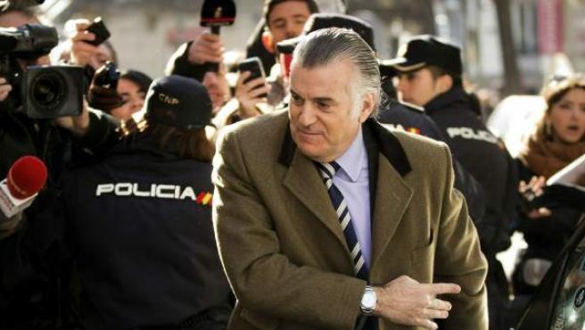 El extesorero del PP Luis Bárcenas, en una imagen de archivo de febrero de 2013.