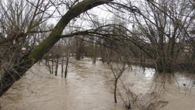 Imagen del río Júcar tras las lluvias de este año.