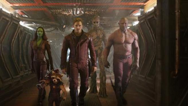 Imagen promocional de 'Guardianes de la Galaxia', película distribuida por Disney que se estrena en agosto.