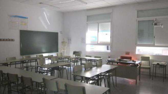 Interior de un aula de un colegio