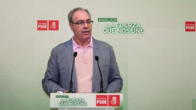 Durán en la sede del PSOE de Córdoba