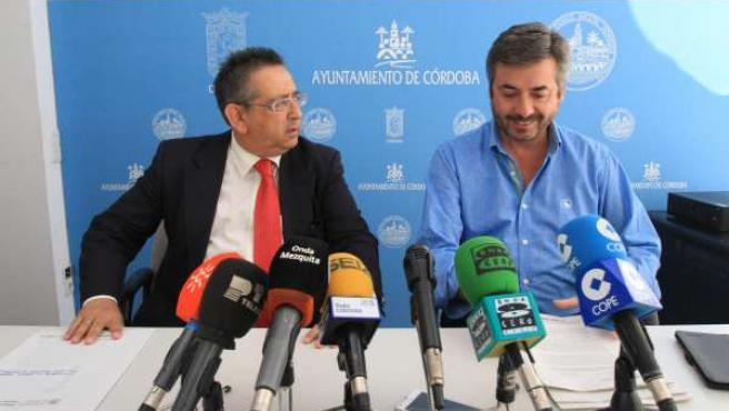 Rojas y Torrico durante la rueda de prensa