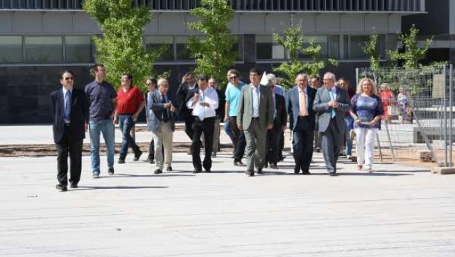 Visita de Diego Valderas al Campus de Linares