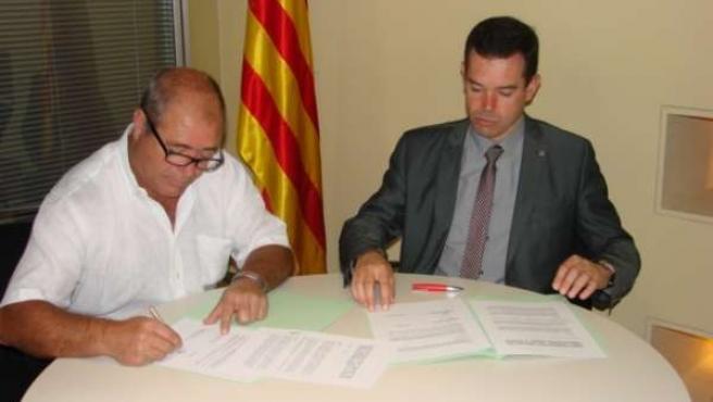 Agricultura y Actel firman un convenio de formación en la Escuela de Alfarràs