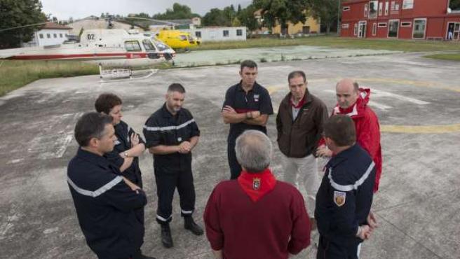 Visita de bomberos franceses a dispositivo de Sanfermines.