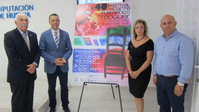 Ignacio Caraballo presenta la 40º Festival de Cante Flamenco de Moguer.