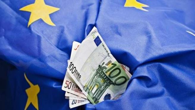 Imagen de archvio de billetes de euro.