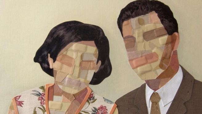 Una de las obras de Savina Hopkins, artista australiana