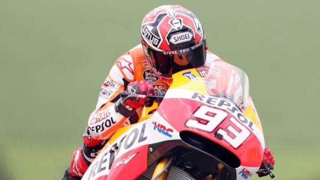El piloto español del equipo Repsol Honda, en los entrenamientos del GP de Alemania de MotoGP.