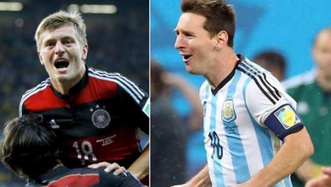 Toni Kroos y Leo Messi, dos de los principales protagonistas de la final del Mundial de Brasil 2014.