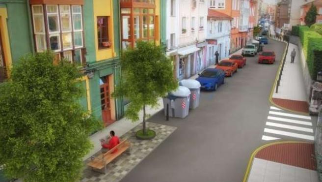 Inforgrafía de la renovación de la calle Cisneros